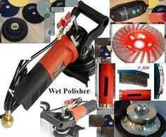 """3/16"""" B5 Radius Demi 5mm Bullnose Wet Polisher 1 3/8"""" Core Bit Cup Granite Concrete Diamond Pad Stone toolsmart damo ONE YEAR WARRANTY. 5"""" Wet Variable Speed Polisher (with GFCI Breaker, 900W, 500-4500 RPM). 12 Pieces of 4"""" (3mm Thick) Polishing Pad for granite marble concrete:. 2 Pcs X Grit 50 100 200 400, 1 X Grit 800 1500 3000 Buff. 1 Pcs of 4"""" Rubber Velcro Backer/Pad Holder. 1 Piece 4"""" Turbo Cup Wheel. 1 Piece 1 3/8"""" Core Bit/Hole Saw. 1 Piece B5 (5mm / 3/16"""" Radius Bullnose) Router…"""