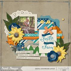 Digital Scrapbook Layout by Nikki Hawkins using I Am {Fearless}-Kit by Digilicious Designs & Meghan Mullens available at Sweet Shoppe Designs