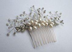 Bridal Hair comb Crystal Hair Comb by MagicBluebellDesigns on Etsy