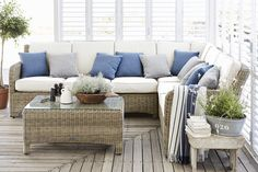 Get this fabulous Neptune Murano modular six-seater outdoor wicker sofa set now at Holloways. Part of our massive outdoor furniture collection. Garden Furniture Design, Wooden Garden Furniture, Outdoor Wicker Furniture, Modular Furniture, Wicker Sofa, Modular Sofa, Wicker Man, Wicker Dresser, Wicker Trunk