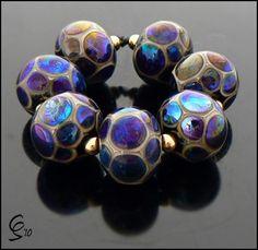 Ix Chel  Lampwork Glass Bead Set by Clare by BeadsbyClareScott, $68.00
