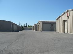 Gladwin Self Storage Wide Aisles for RVs and Boat Parking