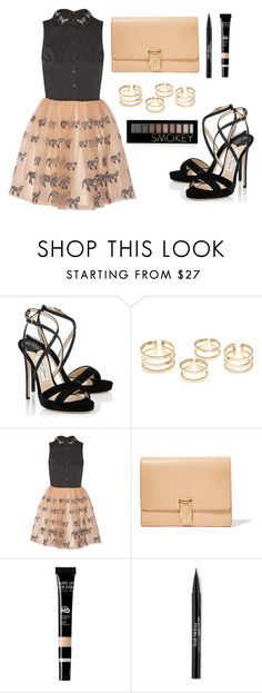 """""""Untitled #84"""" by longarina ❤ liked on Polyvore featuring Jimmy Choo, Alice + Olivia, Opening Ceremony, Trish McEvoy and Forever 21"""