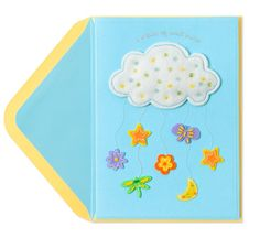 Felt Cloud with Baby Icons Price $6.95