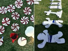 PHOTO: Using mostly foam board, McConnell assembled and painted the decorations on her parents home.