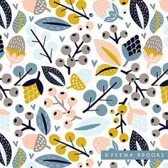 Surface pattern design by Feena Brooks  feenabrooks.com