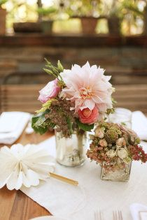small, colorful table decorations