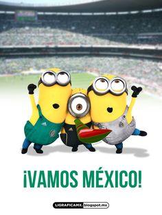 ¡Vamos México! @Selección Mexicana #Soccer #Minions #LigraficaMX