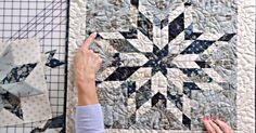 "The eight-point star block is definitely a pattern that will elicit a few ""wows. Longarm Quilting, Quilting Tips, Quilting Tutorials, Machine Quilting, Quilting Projects, Quilting Designs, Sewing Projects, Lone Star Quilt, Star Quilt Blocks"