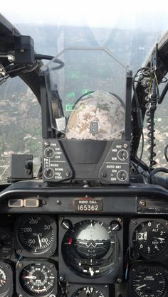 Cockpit view - Helicopter