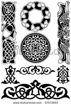Celtic vector art-collection on a white background. by tanik, via ShutterStock