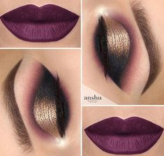 Popular Glitter Makeup Ideas to Rock the Party picture 3 Christmas makeup looks exceptional whether it is subtle or very bright. Check out our 48 holiday makeup ideas and choose the one that works best for you. Makeup For Brown Eyes, Smokey Eye Makeup, Eyeshadow Makeup, Eyeshadows, Purple Lipstick Makeup, Glitter Eyeshadow, Smoky Eye, Eyebrow Makeup, Pink Lips