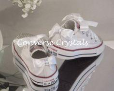 Mädchen Custom Glas Kristall Zehen Seiten und von ConverseCrystals