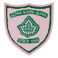 Alpha Kappa Alpha AKA Embroidered Crest Iron-On Chenille Patch Aka Sorority, Alpha Kappa Alpha Sorority, Sew On Patches, Iron On Patches, Pink Apple, Ivy Leaf, Pink And Green, Cheryl, My Love