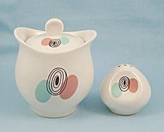 Steubenville - Mid Century - Sugar Bowl & Shaker