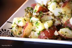 Loaded with flavors, this is the perfect potato salad for the boldest of menus. Serve hot or cold for virtually any occasion.
