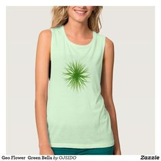 Geo Flower  Green Bella