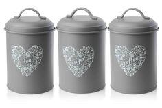 ProCook Tea Coffee & Sugar Storage Jars 3 Piece Set