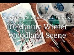 10-Minute Winter Woodland Watercolor Tutorial — Scratchmade Journal
