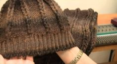 Ribbed hat made with the Ultimate Sweater Machine (video) part 1 of 2