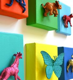 Don't subject your walls to boring art.   Here are 23 out-of-the-box ideas to personalize your walls.            Color Block Popsicle...