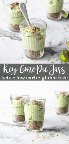 These quick and easy Keto Key Lime Pie Jars are the perfect blend of tart and sw. - The BEST Keto Recipes for Summer and Spring - Desserts Keto Foods, Ketogenic Recipes, Keto Recipes, Ketogenic Diet, Keto Meal, Health Foods, Quick Recipes, Cake Recipes, Cooking Recipes