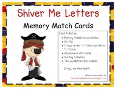 Memory Match Cards...upper case letters and lower case letters