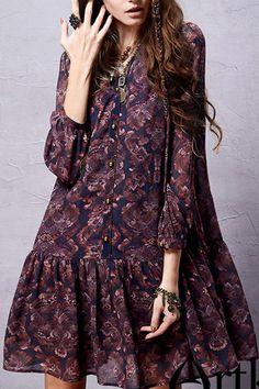 Ethnic Print | Chiffon Dress & Cami Dress Twinset.