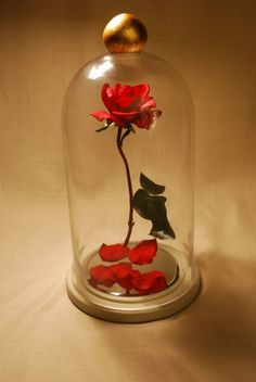 Beauty and the Beast Enchanted Floating Rose  by TheFrugalOutpost on etsy