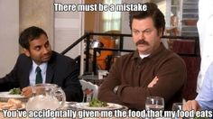 Ron Swanson on vegetables, Parks and Recreation lol Parks N Rec, Parks And Recreation, Parks And Rec Quotes, Ron Swanson Meme, Rob Swanson, Just For Laughs, Just For You, Monday Humor, Teenager