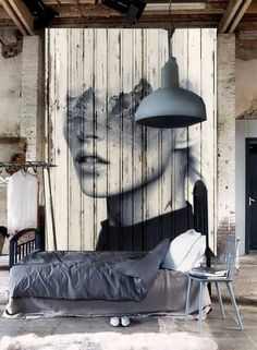 Warehouse conversion. Wall art.