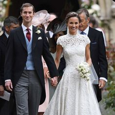 Congratulations to Pippa Middleton! Beaming with joy, and looking so beautiful, in this stunning @gilesdeacon_ gown as she wedded her millionaire beau, James Matthews!  http://gelinshop.com/ipost/1519446156341359360/?code=BUWKDqUDzMA