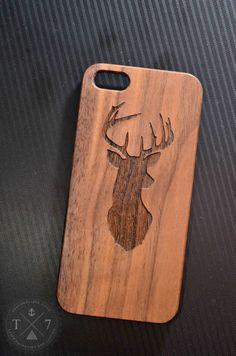 Deer Antler de tête en bois iPhone 5 s 5 iPhone 6 noix par StudioT7