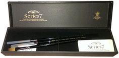 Winsor & Newton Series 7 Kolinsky Brush Gift Set Of 3