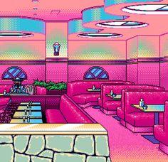 Pixel art: restaurant