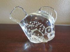 Murano Style HQT Home Design Glass Tropical Fish Handmade Black ...
