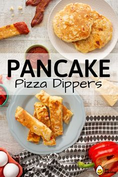 Pancake + Pizza = The perfect meal for breakfast, lunch and dinner! Egg Recipes, Baby Food Recipes, Baking Recipes, Diet Recipes, Dessert Recipes, Healthy Meals For Kids, Kids Meals, Healthy Food, Easy Meals