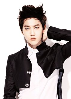 Suho of EXO with blue eyes