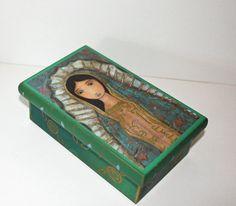 Virgen de Guadalupe   Original Mixed Media Handmade by FlorLarios, $28.00