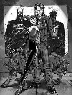 DC Comics. JOKER. HARLEY QUEEN.