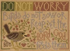 Eye on the Sparrow by Silver Creek Samplers, cross stitch pattern