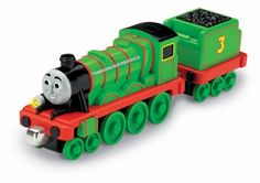 Thomas the Train: Take-n-Play Talking Henry by Fisher-Price. $9.99. A great addition to your Thomas & Friends Take-n-Play collection. Henry comes to life with his own voice. Hear fun train and whistle sounds. Features a working headlight. Compatible with Thomas  and  Friends Take-n-Play foldout sets. From the Manufacturer                Henry comes to life with phrases, whistles and fun train sounds! Engine features a working headlight. Press the button to hear ...