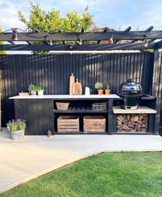 """Frances on Instagram: """"This was definitely my favorite lockdown project! ❤️ I was looking through photos of this past year last night and found some of the…"""" Outdoor Spaces, Outdoor Living, Outdoor Decor, Backyard, Patio, Outdoor Kitchen Design, Dream Garden, Outdoor Projects, Outdoor Gardens"""