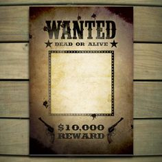 Lone Ranger: Wanted poster template (Word)