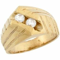 14k Yellow Gold Double White CZ Woven Designer Baby Ring Jewelry Liquidation. $272.97. Made in USA!. Comes with FREE fancy black leatherette ring box!. Made with Real 14k Gold!. Save 67%!