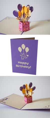 3D Pop-up Birthday Cards by Lovepop