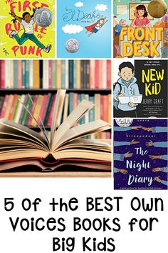 Are you looking to add more own voices books to your classroom library? Your upper elementary, grade 4, grade 5 and grade 6 students will love this diverse list of books. El Deafo, The First Rule of Punk, Front Desk, New Kid and The Night Diary are all amazing own voices books. Help each child in your room to feel represented through books. This blog post highlights diverse reads for fifth and fourth grade students. Great for read aloud, reading workshop and independent reading. Back To School Activities, Fun Activities, Classroom Management Plan, Small Group Reading, Interactive Read Aloud, Independent Reading, Classroom Community, Readers Workshop, Project Based Learning