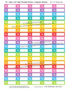 """Haircut Manicure Personal Grooming Printable Calendar / Planner Stickers 1.5"""" w x 0.5"""" -  Rainbow Planner accessor (3.50 AUD) by AllAboutTheHouse"""