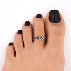 toe ring sterling silver toe ring Chain design by Silversmith925, $11.00