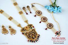 Checkout this latest Jewellery Set Product Name: *peacock rani har combo jewellry set* Country of Origin: India Easy Returns Available In Case Of Any Issue   Catalog Rating: ★4.3 (824)  Catalog Name: Elite Fusion Jewellery Sets CatalogID_2029587 C77-SC1093 Code: 914-10961708-4701